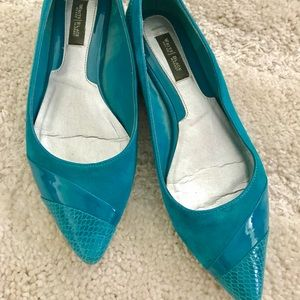WHBM Suede Flats